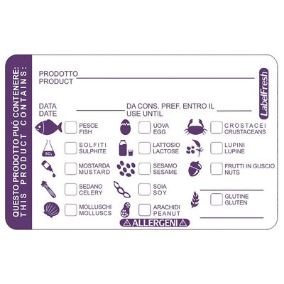 Etichette allergeni