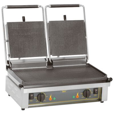 Contact grill double plate