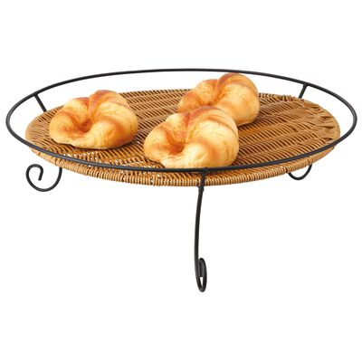 Basket with black wire stand