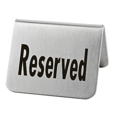 """Table plate """"reserved"""""""