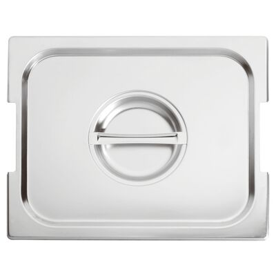 Lid with notched edge for handles