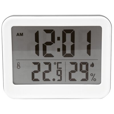 Thermometer with clock