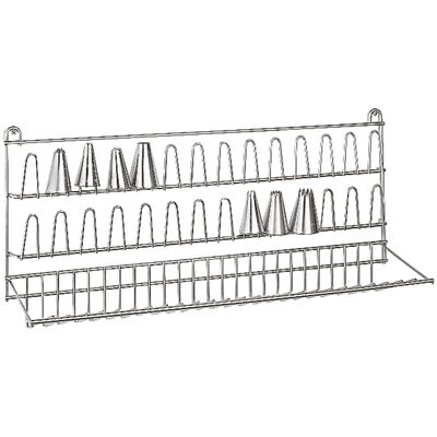 Wall rack for nozzles/icing bags
