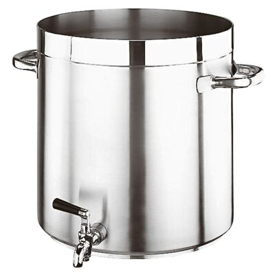 Stock pot with tap