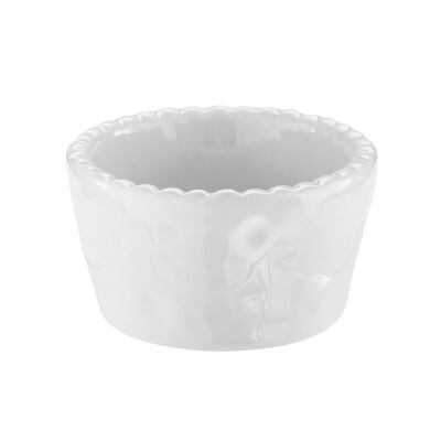 China dish for sufflè, fluted