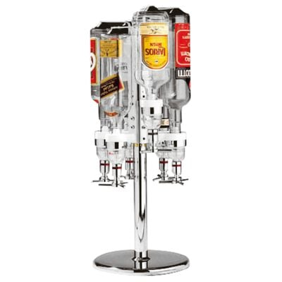 Counter rotating support for bottles