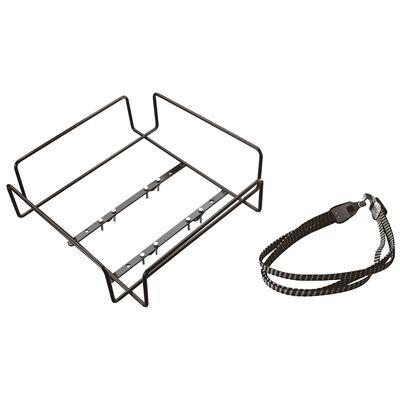 Bicycle basket rack and elastic hook