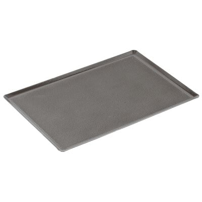 Baking sheet perforated and silicone coating